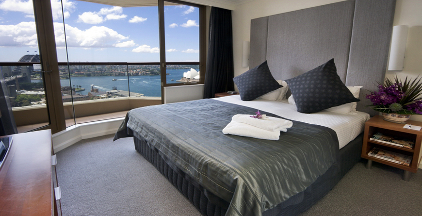 Bedroom with Harbour View