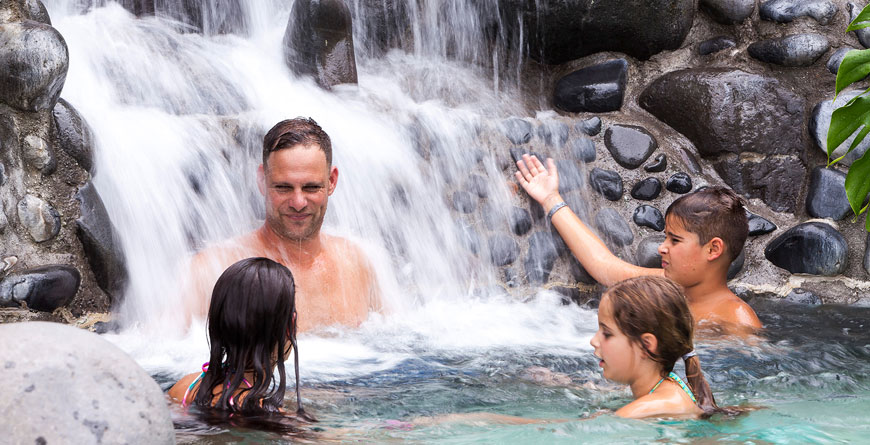 Family fun in the hot springs
