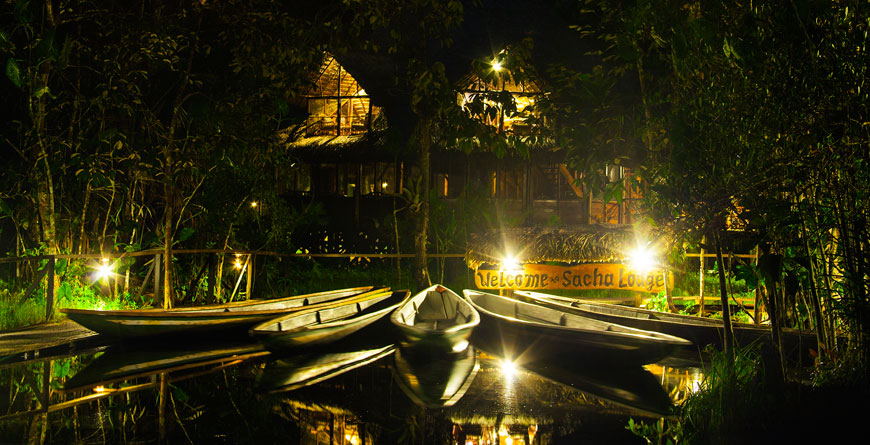 Night-time at the lodge
