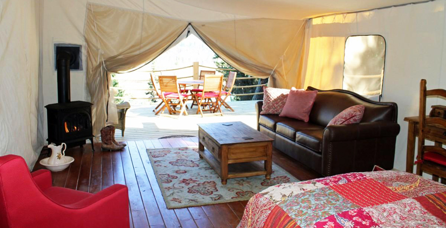 Luxury Canvas Cabin, Safari Tent