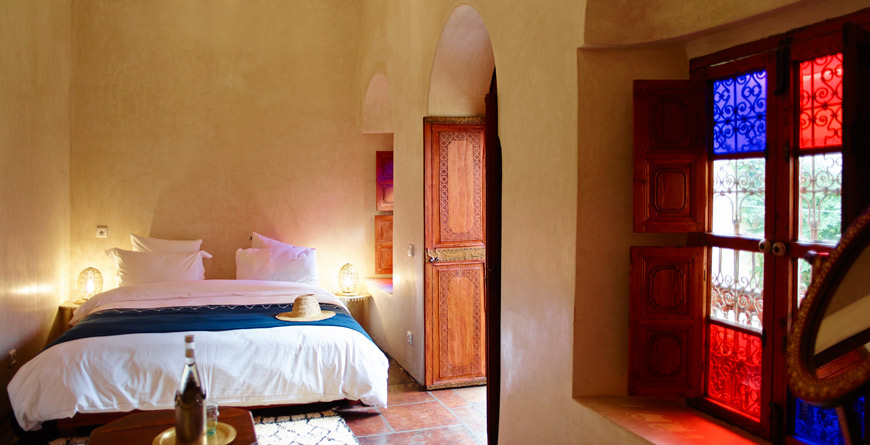 Riad Vanessa Bedroom, courtesy of David Luftus
