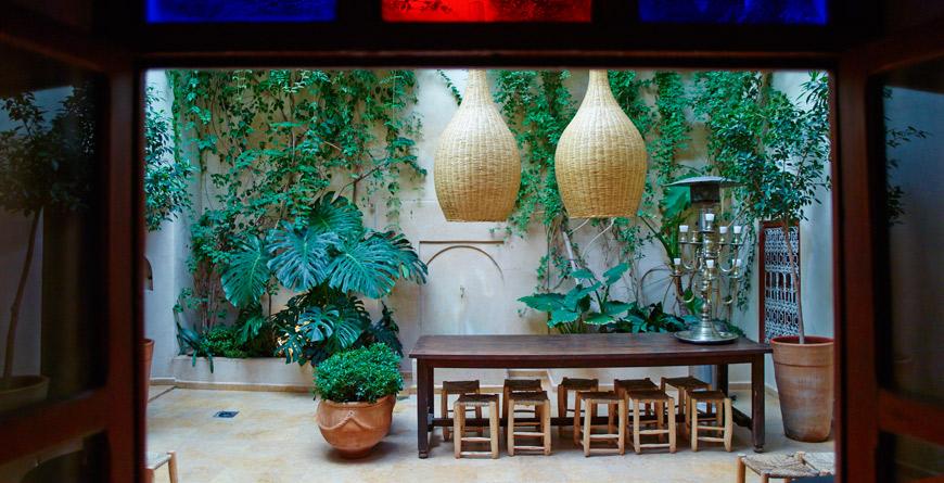 Riad Vanessa Courtyard, courtesy of David Luftus