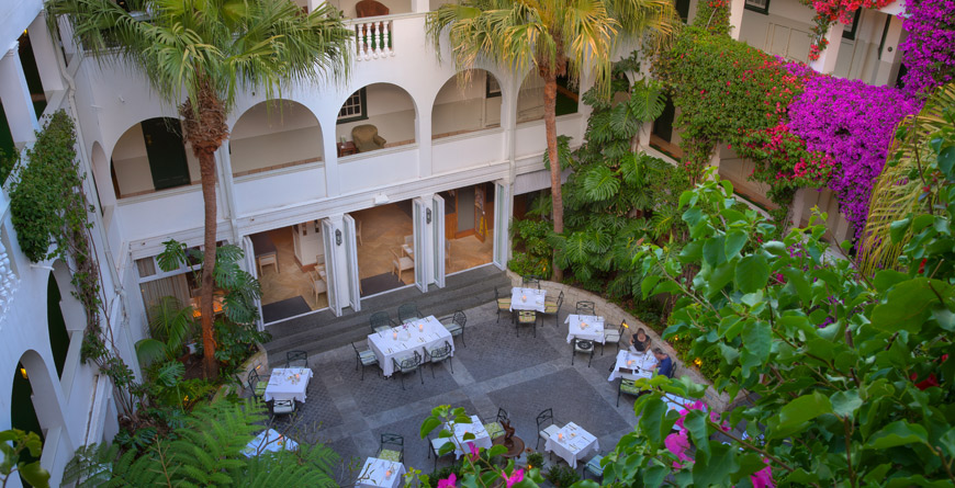 Winchester Mansions Courtyard Dining