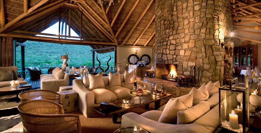 Kwandwe Great Fish River Lodge Lounge