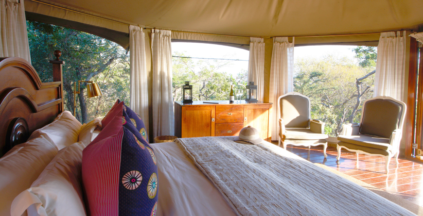 Tented Camp Tent Interior