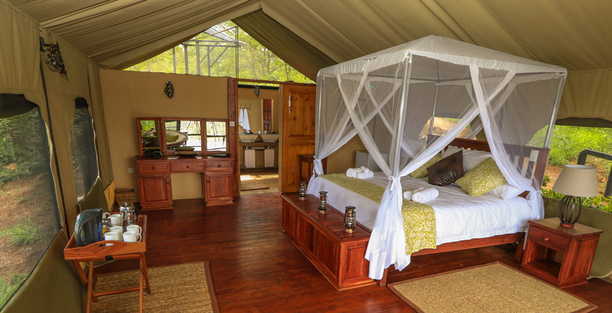 Tent interior at Little Gorges