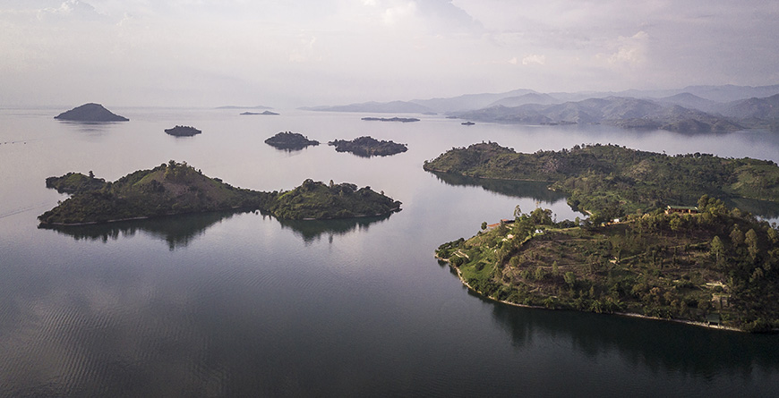 Lake Kivu Drone of Islands