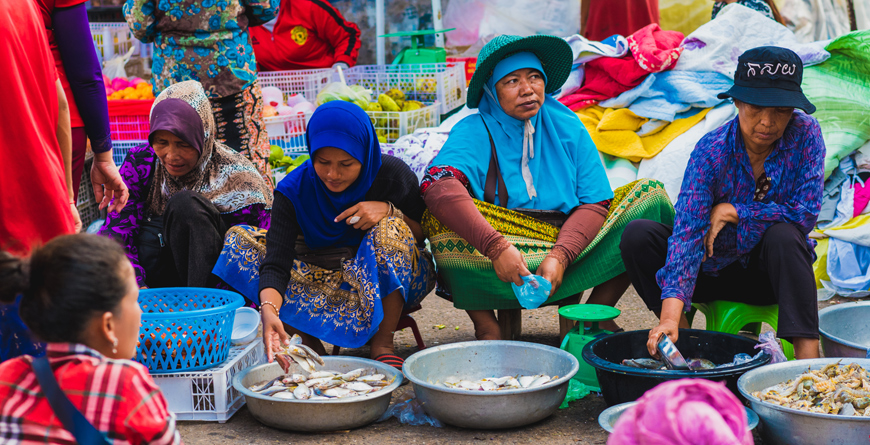 Women at Local Market