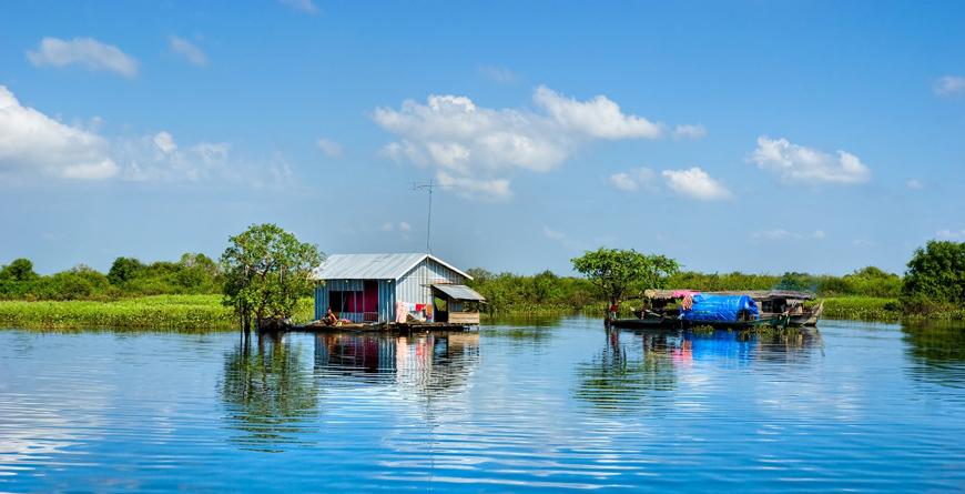 Floating House on Tonle Sap Lake