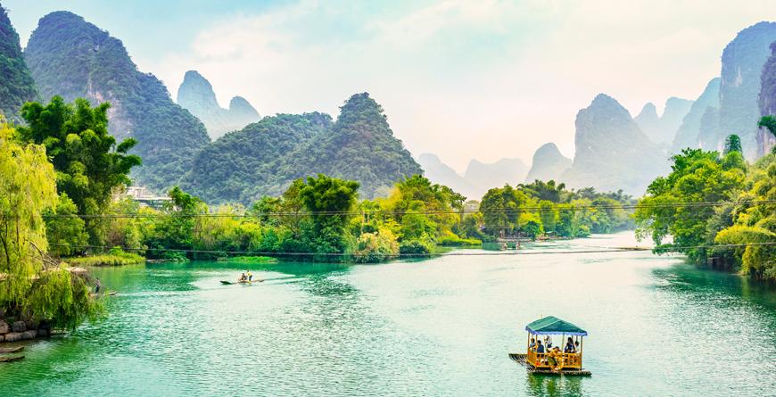 Guilin Li River Karst Mountains Yangshuo Guilin Guangxi, courtesy Shutterstock