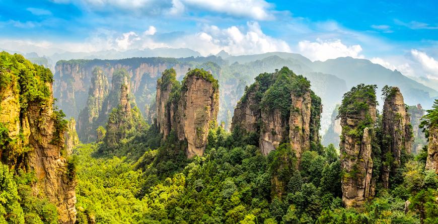 Zhangjiajie Forest Park, Hunan Province, courtesy Shutterstock