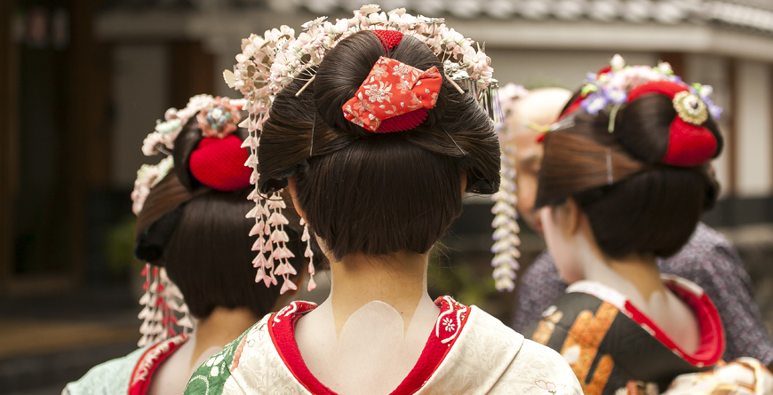 Geisha in Kyoto, Courtesy Shutterstock