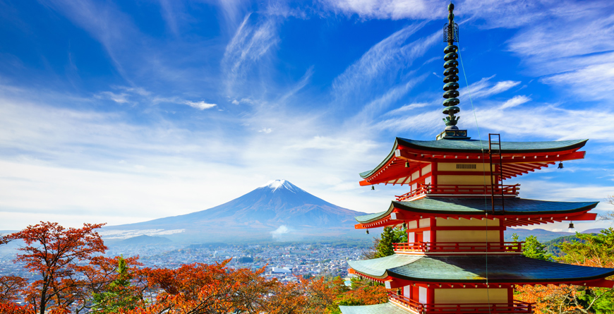 Red Pagoda near Mt. Fuji Courtesy Shutterstock