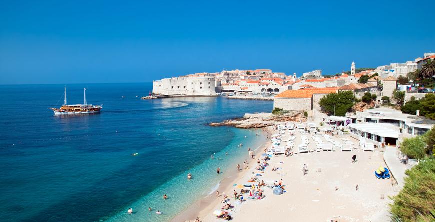 Dubrovnik Beach, Credit Aleksander Todorovic, Shutterstock