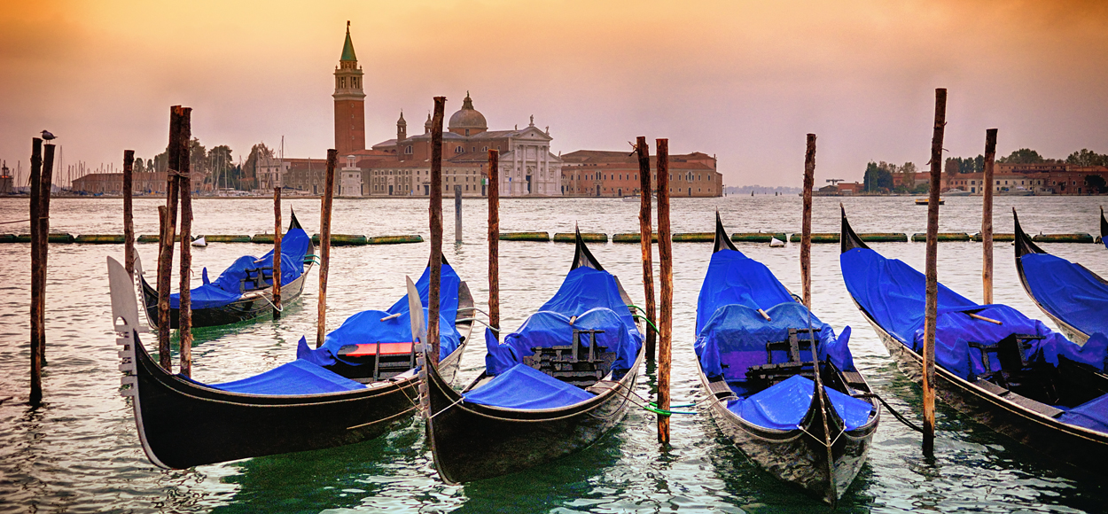 Gondolas Saint Mark Square, Credit Shutterstock