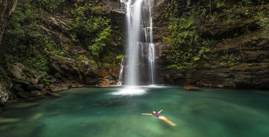 Waterfall in Chapada dos Veadeiros National Park, Credit ANDRE DIB, Shutterstock.com