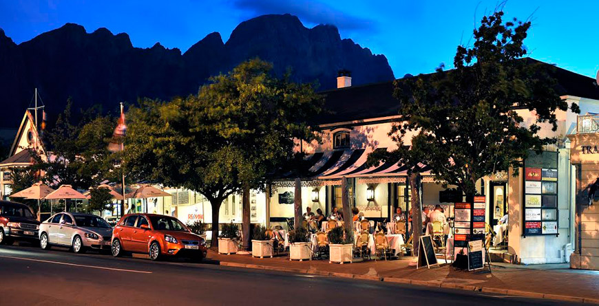 The Winelands, Franschhoek at Night
