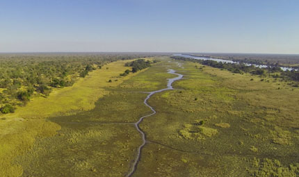 Aerial View of Eden, Kafue National Park, Courtesy Jeffery & McKeith Safaris