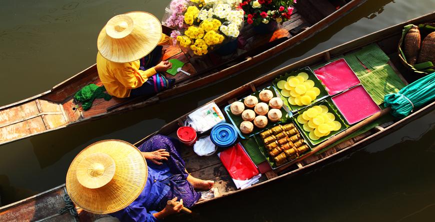 Damnoen Saduak Floating Market, Credit Shutterstock