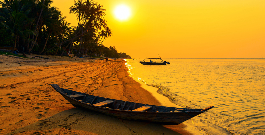 Bang Por Koh Samui Sunset, Credit Shutterstock
