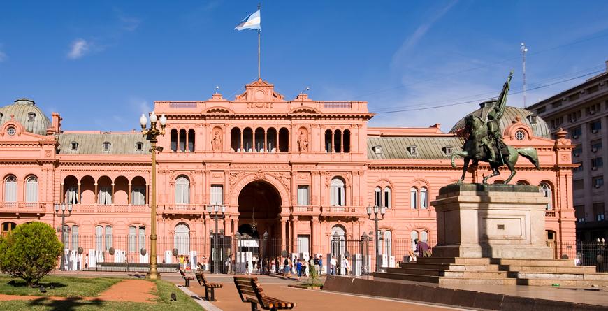 Casa Rosada, Predidential Palace of Argentina, Credit Eduardo Rivero, Shutterstock.com