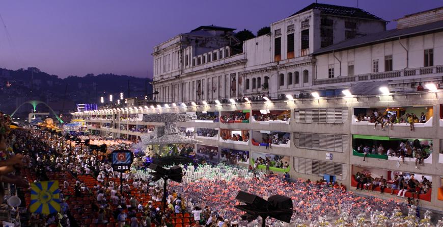 Samba Dancers, Rio Carnival Sambadome, Credit Gary Yim, Shutterstock.com