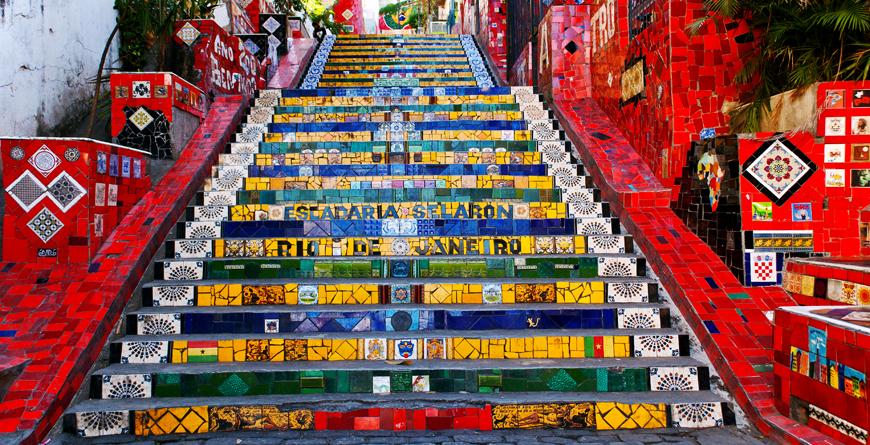 Stairway Selaron Jorge Selaronartist, Credit Caterina Belova, Shutterstock.com