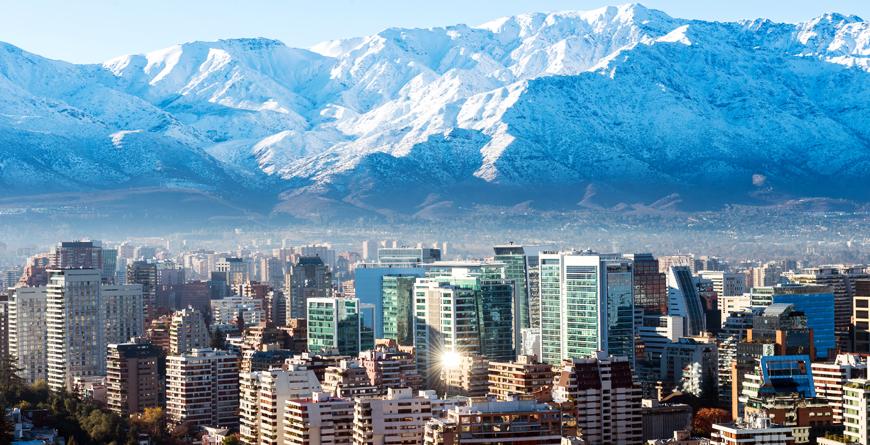 Santiago Cityscape, Credit Pablo Rogat, Shutterstock.com