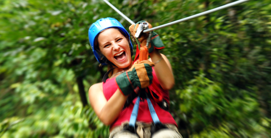 Ziplining, Credit Travel Excellence