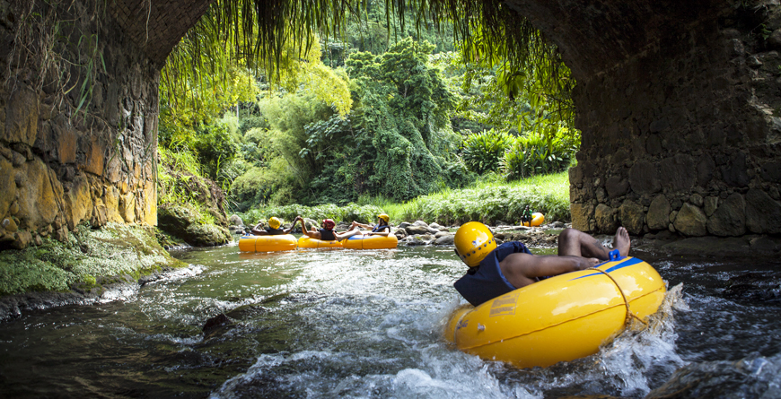 River Tubing, Credit Grenada Tourism Authority