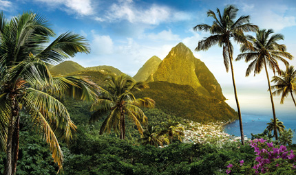 The Pitons, Credit St.Lucia Tourist