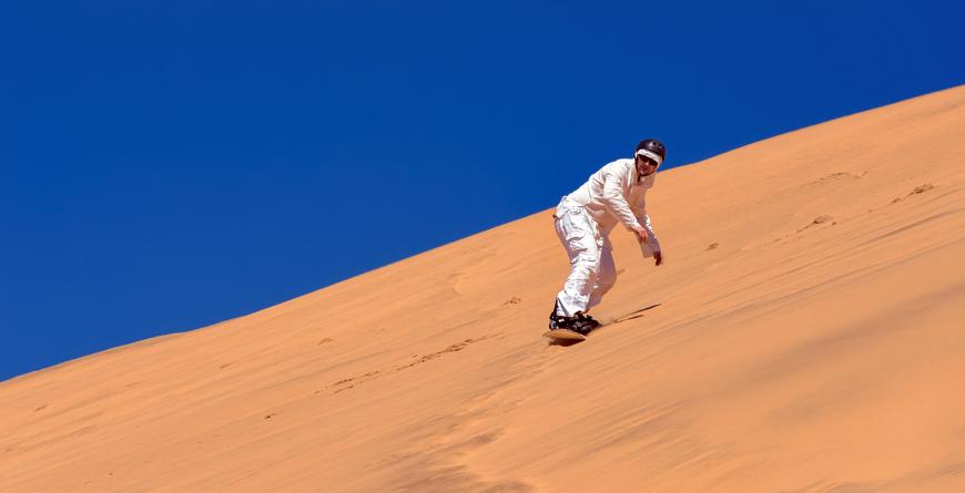 Sand-boarding, credit Shutterstock