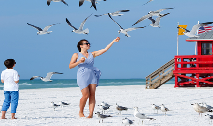 Mum and Son Florida Beach, Credit Shutterstock