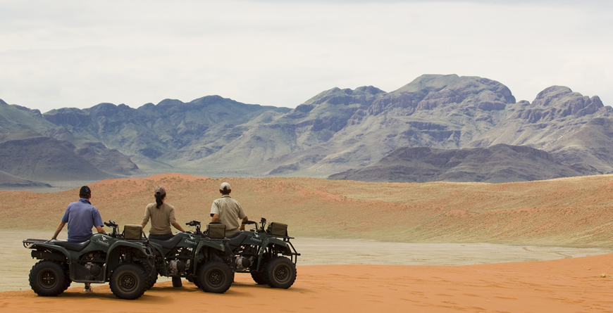 Quad-biking, &Beyond Soussusvlei Lodge, Namibia, courtesy of &Beyond