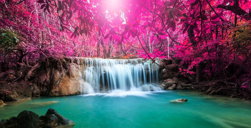 Deep Forest Waterfall Kanchanaburi Province, Credit Shutterstock