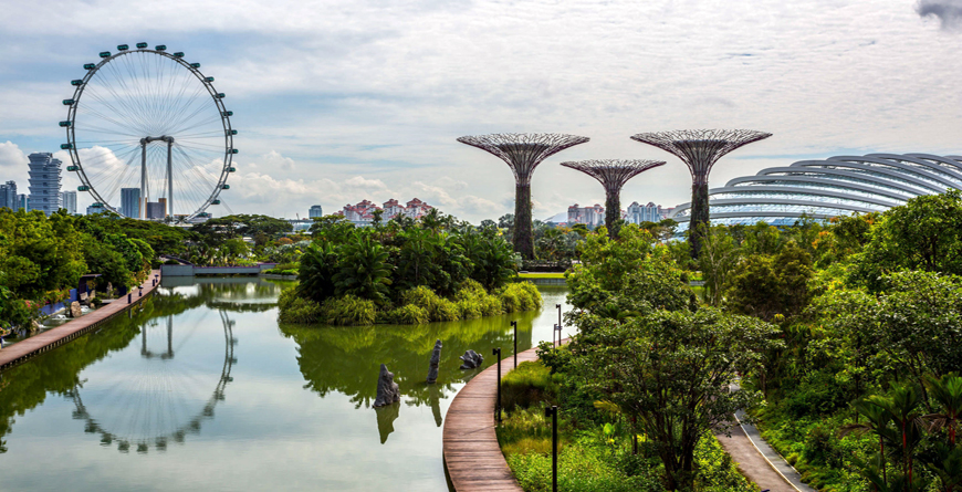 Garden by the Bay Supertree Flyer Singapore, Credit Shutterstock